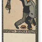Conversation Between Rivals (Gespraech Zwischen Rivalen), 1907. Creator: Moritz Jung. Box Canvas Print. Conversation Between Rivals (Gespraech Zwisch.