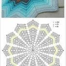 Free Crochet Diagrams for Ripple Star Stitches and Afghans ⋆ Crochet Kingdom