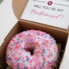 Proposal Box: Donut (DIY Kit) |bridesmaids|maid of honor|flower girl|customize|