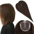 Up to 70% Off Full Shine Hair Pieces for Hair Loss Real Human Hair 5*5 Toupee With Clip Ins #4 - 8\ (5\*5\) / #4