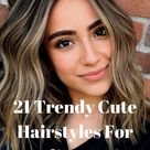 21 Cute Hairstyles For Medium Hair 2021   Easy Hairstyles   Hair Styles   Hair Cuts   Hair Color