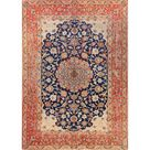 refurbished Antique Isfahan Hand Made Wool Persian Floral Area Rug - 7' x 4'11