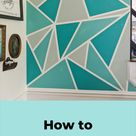 How to Paint a Geometric Mural