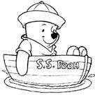 Winnie the Pooh Coloring Page - winnie the pooh in boat