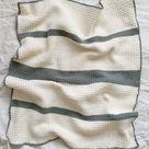 Crochet Beginner Grit Stitch Baby Blanket