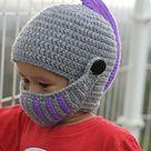 Knight Helmet Hat pattern by Delia Pop