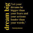 DREAM BIG Inspirational Quote - Success Quotes To Live By