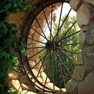 Wagon Wheel Garden