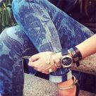 Patterned Jeans