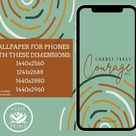 Change Takes Courage  AOC  Phone Wallpaper  instant   Etsy