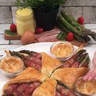 Knuspriger Bacon-Spargel mit Sauce Hollandaise