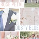 Pale Blush and Dusty Blue Country Wedding
