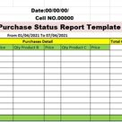 Excel Budgeted Monthly Sales Status Report Template