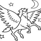Free Flying Unicorn Coloring Pages - Printable Coloring