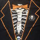 Shirt, Modified Skeleton Tuxedo Halloween