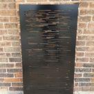 Privacy Screen Metal Garden Fence Topper Decor Art   Abstract3