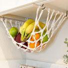 Fruit Veggie Hammock, Boho Hanging Produce Storage, Macrame Handmade Hammock