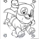 Super Hero Rubble Paw Patrol Coloring Pages - Cartoons Coloring Pages - Coloring Pages For Kids And Adults