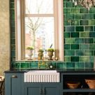 Green tiles or cabinets in Kitchens are really a thing! what do you think?