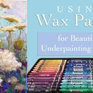 Wax Pastel Underpainting Technique / REAL TIME / Queen Anne's Lace