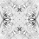 Paisley, hearts and flowers anti-stress coloring design coloring pages - Hellokids.com