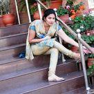 Indian girl in salwar kameez dress