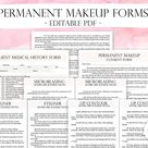 Nail Technician Forms, Pink Nail Artist Client Forms, Nail Technician Planner