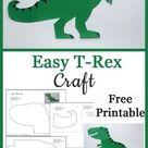 T-Rex Dinosaur Craft (Free Template) | Crafting Jeannie