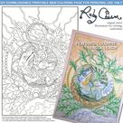 Nacho the Crestie by Ruby Charm Colors: Downloadable, printable PDF coloring page, adult colouring, gecko, lizard, nature