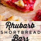 Rhubarb Shortbread Bars from The Food Charlatan