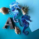 Epoxy resin wall decor seahorse amulet little mermaid decor | Etsy