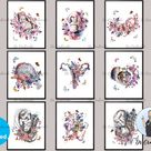 Baby Shower Gifts Pregnant Woman Art Gift Baby in Womb Drawing Pregnancy and Obstetrics Poster Gynec