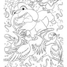 Rio: The Movie - Characters of Rio movie coloring page