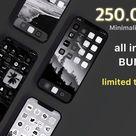 iOS 14 App Icons Trendy   Black, White, Grey, Minimalist   Widgets with Quotes   Social Media Logos