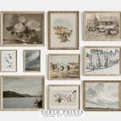 Printable Vintage Gallery Wall Art   Printable Art from North Prints on Etsy
