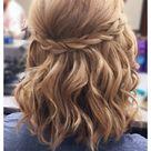 Simple braided half updo for short hair done by Brooke at AV Beauty Bar in OTR (Cincinnati) Ohio