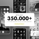 Ios 14 App Icons Trendy  Black White Grey Minimalist    Etsy