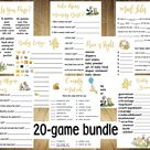 All 20 games, Classic Winnie the Pooh Baby Shower Games, Classic Winnie the Pooh Baby Shower, Winnie the Pooh Baby Shower Games, Game bundle