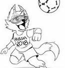 Dibujos para colorear Copa Mundial de Fútbol 2018