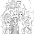 Famille adams 2 - Halloween Coloring Pages for Adults - Just Color