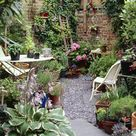 Urban garden, London - Stock Image - B878/0152