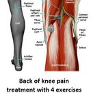 Back of knee pain cause and treatment | Massage and 4 Exercises