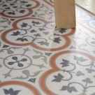 PVC vinyl mat, Orientaltiles Pattern, Decorative  linoleum rug, custom size, kitchen mat, livingroom decor ,Orange And Gray #179
