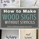 Cheap and Easy DIY Farmhouse Wood Signs - A Step-by-Step DIY Tutorial!