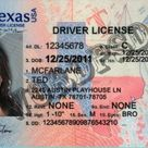 Template Texas Drivers License PSD (v3) -  Template photoshop