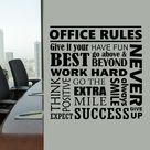Motivational Office Rules Wall Decal Word Collage   40 x 40 / Purple