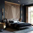 Modernes Schlafzimmer   Schlafzimmer Wandgestaltung   Schlafzimmer in kalten Farben