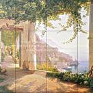 Kitchen backsplash ideas-Amalfi Dia Cappuccini-Tile Mural