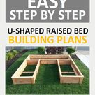 Cedar Raised Garden Bed Step by Step Plans  8ft U-shaped | Etsy