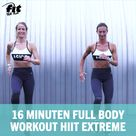 Ganzkörper Bodyweight Training 16 Minuten Full Body Workout HIIT Extreme